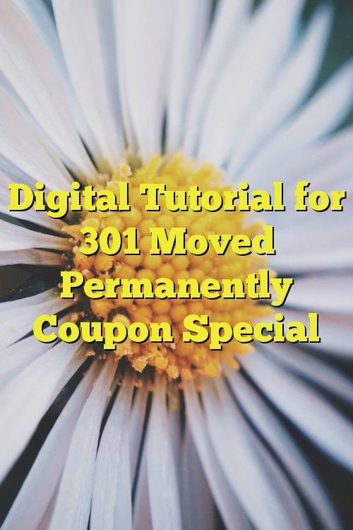 Digital Tutorial for 301 Moved Permanently Coupon Special