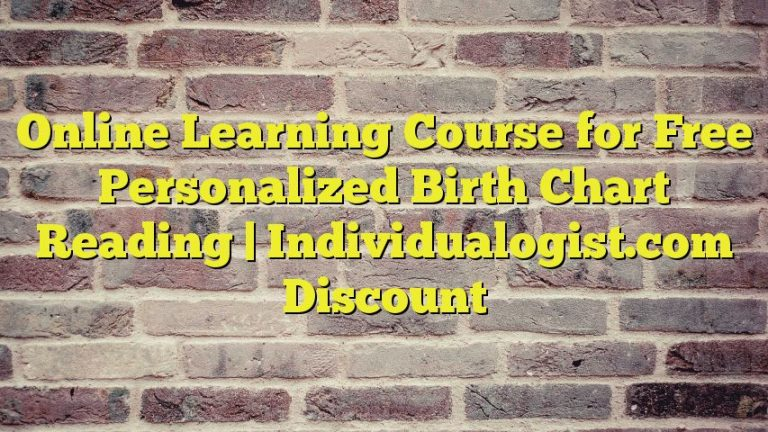 Online Learning Course for Free Personalized Birth Chart Reading | Individualogist.com Discount